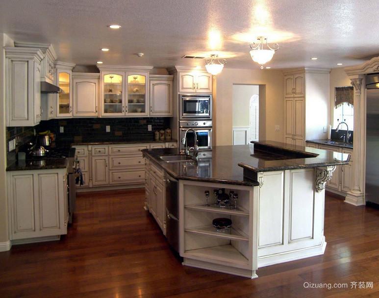 90平米欧式厨房吊顶室内设计装修效果图