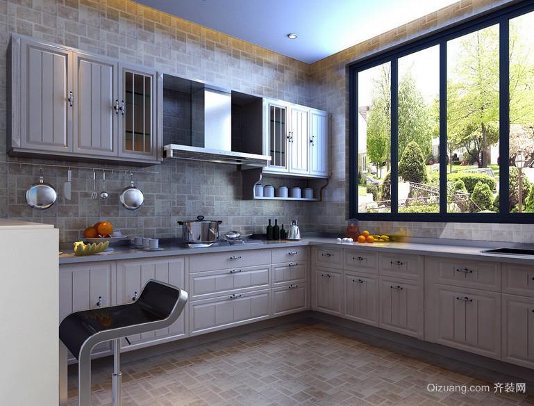 2016简欧别墅厨房飘窗设计装修效果图实例