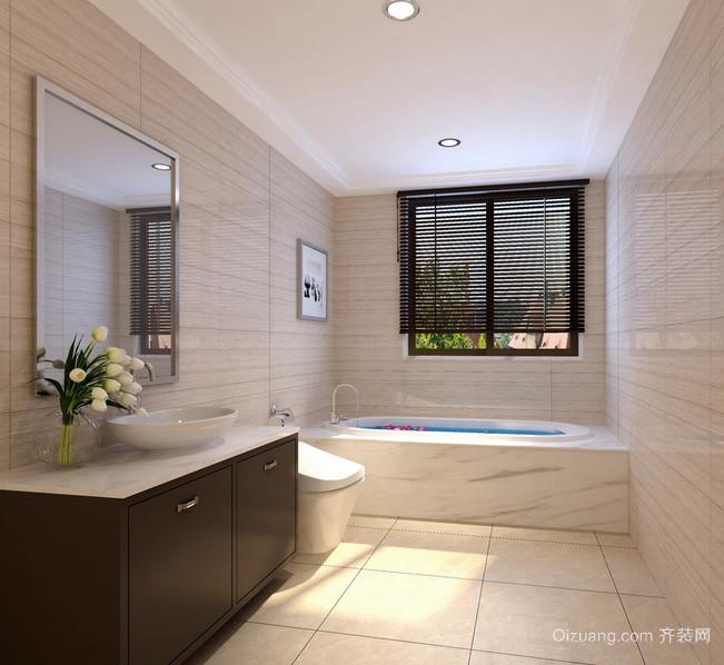 欧式风格大户型卫生间设计装修效果图