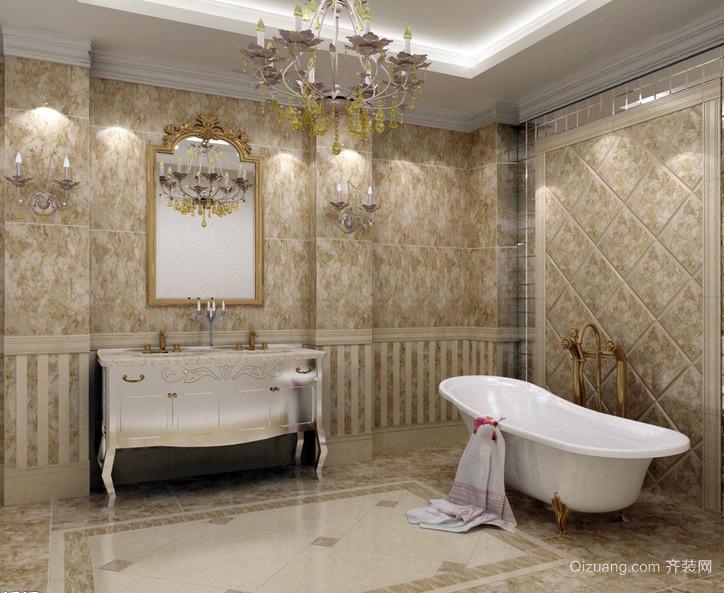 欧式小户型卫生间室内设计装修效果图