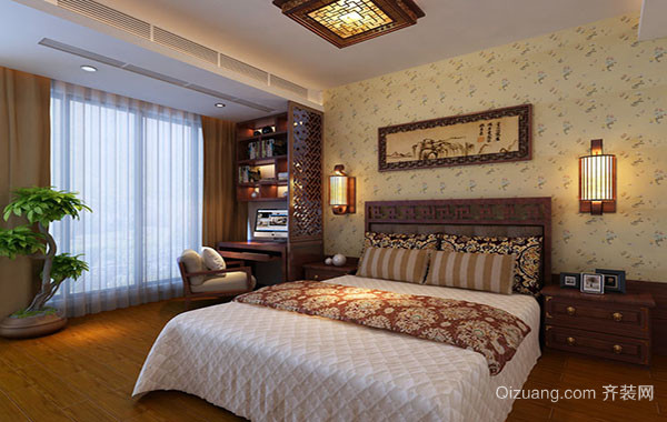 2016年全新款东南亚风格卧室装修效果图赏析