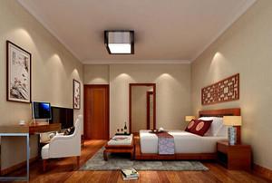 现代中式风格卧室装修效果图赏析