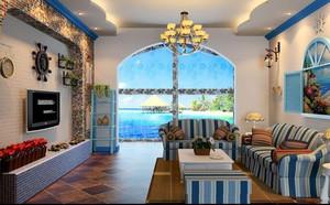 地中海风格大户型精致客厅装修效果图