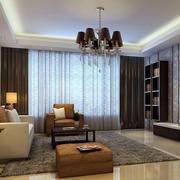 90平米简欧风格客厅室内装修效果图
