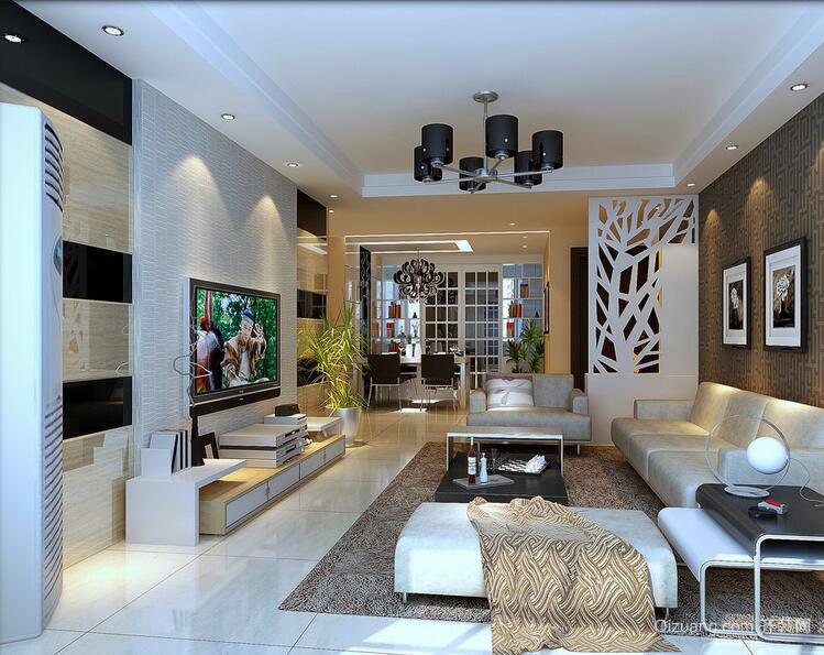 100平米欧式现代客厅设计装修效果图实例