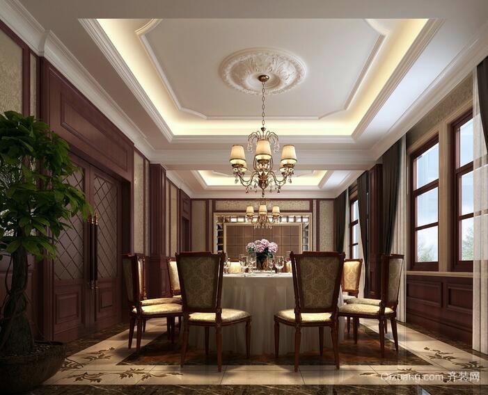 2016欧式别墅餐厅室内设计装修效果图