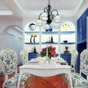 2016简欧风格大户型餐厅室内装修效果图