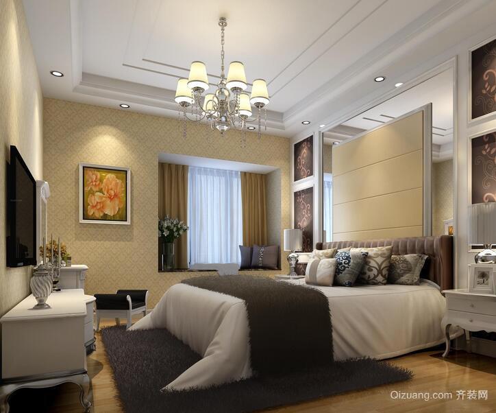 2016欧式风格小户型卧室室内装修效果图