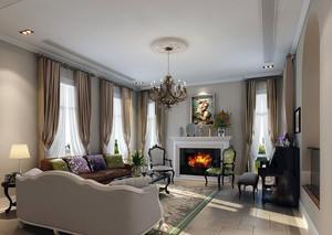 法式风格典雅时尚客厅装修效果图