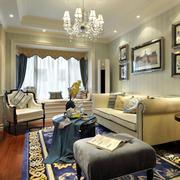 新古典法式风格客厅装修效果图