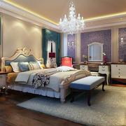 2016欧式高雅的大户型卧室背景墙装修效果图