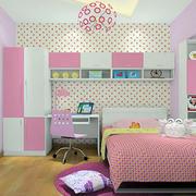 粉色女生儿童房