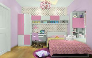 梦幻粉色女生儿童房装修效果图赏析