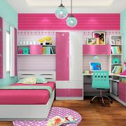 女生儿童房壁纸装修