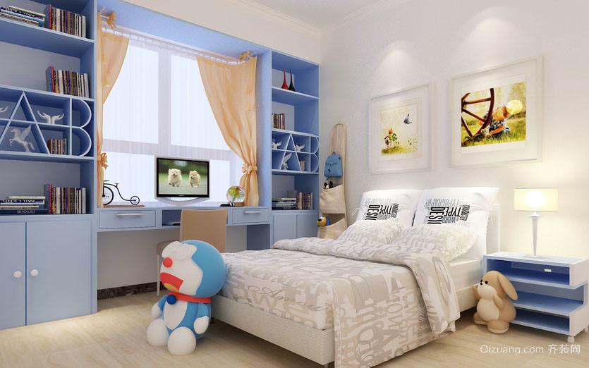 可爱卡通男生儿童房装修效果图