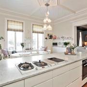 2016简欧风格时尚大户型厨房设计装修效果图