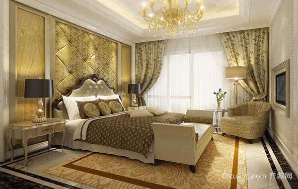 2016小户型欧式风格卧室背景墙装修效果图实例
