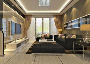 120平米欧式客厅电视背景墙装修效果图