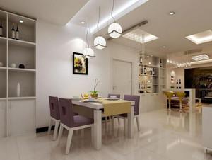 2016别墅型现代简约餐厅吊顶装修效果图实例