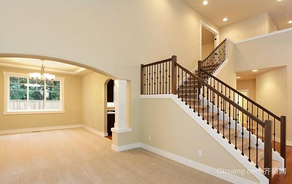 2016欧式风格别墅室内楼梯设计装修效果图