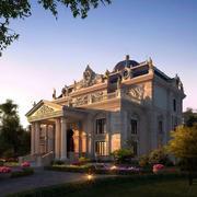 巴洛克风格别墅设计整体效果图