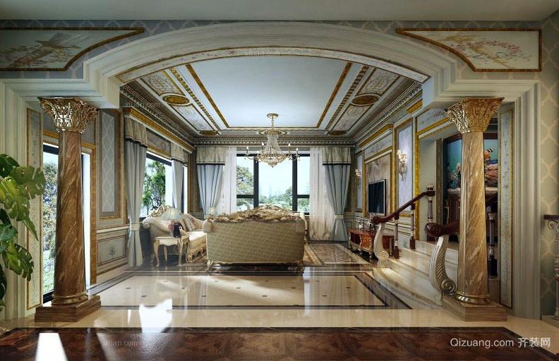 古典欧式风格客厅装修效果图赏析