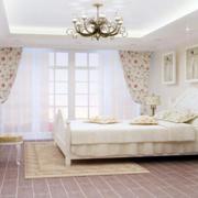 欧式田园风格卧室背景墙效果图