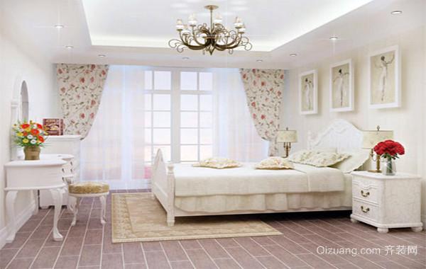 欧式田园风格卧室装修效果图实例