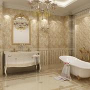 90平米欧式风格经典卫生间装修效果图