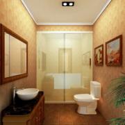 中式简约卫生间效果图