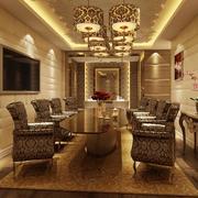 2016欧式风格大户型餐厅设计装修效果图欣赏