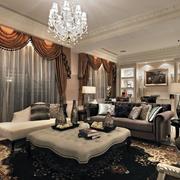 100平米欧式经典客厅室内设计装修效果图
