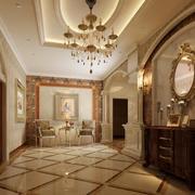 2016欧式别墅型玄关设计装修效果图