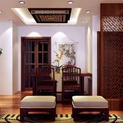 客厅木质吊灯装修效果