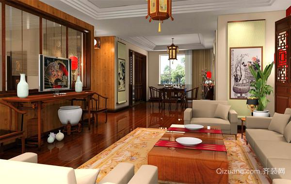 现代中式风格客厅装修效果图鉴赏
