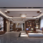 大户型中式风格客厅效果图