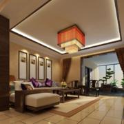 中式风格客厅吊顶效果图