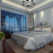 北欧风格简约时尚卧室窗帘装修效果图