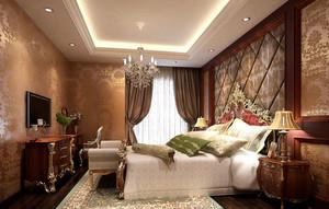 欧式古典奢华典雅卧室装修效果图