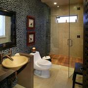 精致卫生间浴室隔断