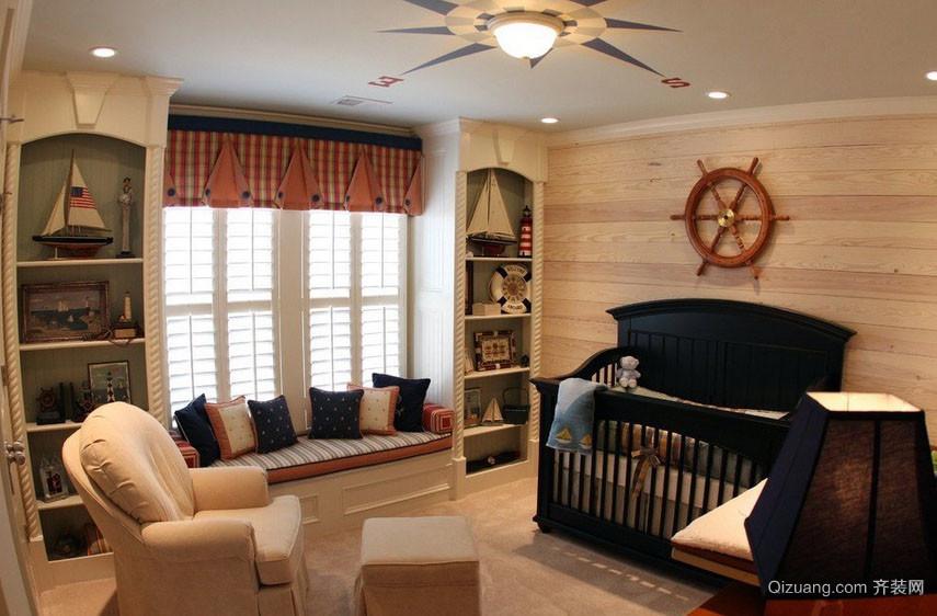 英式风格精致卧室飘窗装修效果图