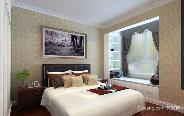 都市简约轻快卧室飘窗装修效果图