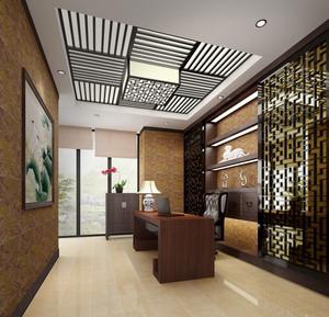 中式风格稳重气质书房装修案例