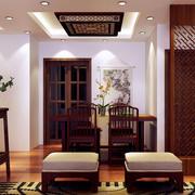 中式风格餐厅隔断