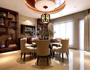中式典雅时尚餐厅装修效果图