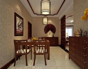 中式风格大户型餐厅装修效果图