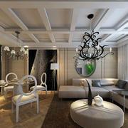 后现代风格简约客厅装修效果图