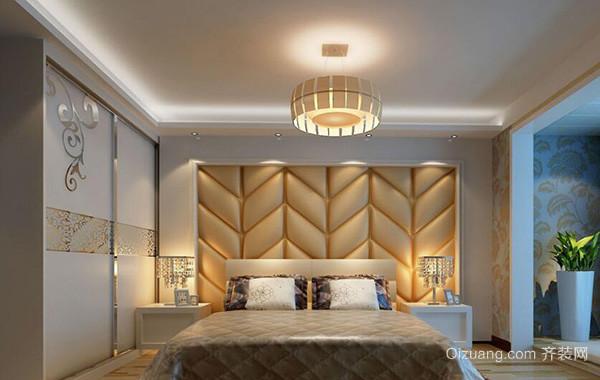 2016欧式大户型卧室软包背景墙装修效果图实例