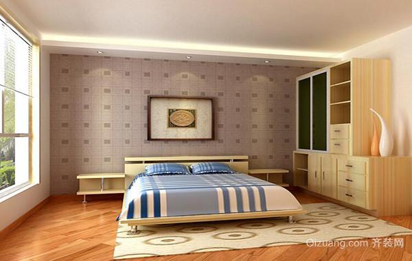 现代简约小户型卧室背景墙装修设计效果图