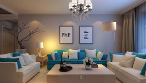 北欧风格极简主义客厅装修效果图
